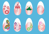 Design painting nails — Stock Vector