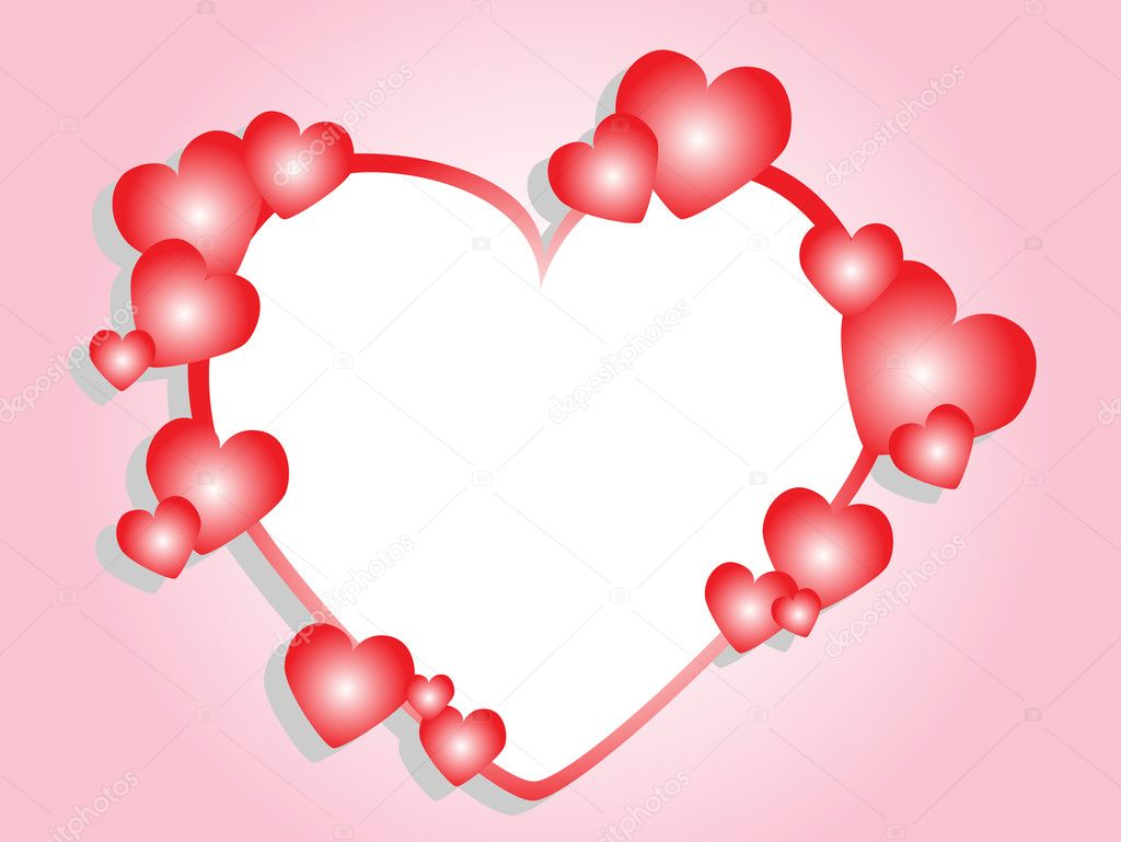 Pink frame with hearts. Vector — Stock Vector #2582762