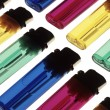 Translucent, multicoloured disposable lighters — Stock Photo #1262067