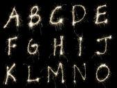 Scintille alfabeto Valerio — Foto Stock