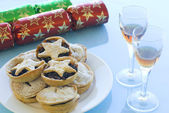 Mince pies and Sherry — Stock Photo