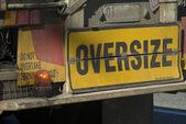 Oversize load — Stock Photo