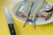 Fish filleting — Stock Photo