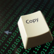 Stock Photo: Computer copy key