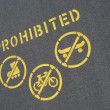 No cycling or skating — Stock Photo