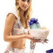 Christmas woman — Stock Photo #1263530