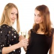 Two woman with wine glasses — Stock Photo