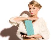 Beauty blond woman — Stock Photo