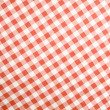 Tablecloth texture-checked fabric - Stock Photo