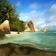 Royalty-Free Stock Photo: Beach Seychelles. Island La Digue.