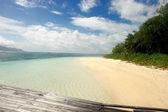 Playa de seychelles. isla seychelles. — Foto de Stock