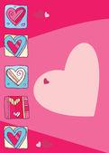 Dia dos namorados. corações. — Fotografia Stock