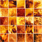 Fiery collage — Stock Photo