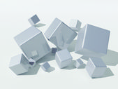 Gray cubes — Stock Photo