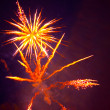 Beautiful fireworks-2 - Stock Photo