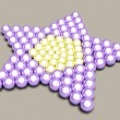 Star of the balls — Stock Photo
