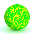 Yellow-green ball — Stock Photo