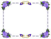 Moldura lilás — Fotografia Stock