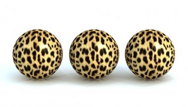 Three balls in a leopard skin stock image