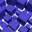 Blue cubes - Stock Photo