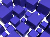 Blue cubes — Stock Photo