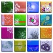 Tiles with pictures - Stock Photo