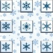 Collage snowflakes — Stockfoto
