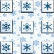 Collage snowflakes — Stock fotografie