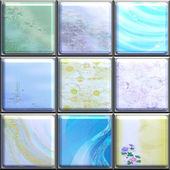 Tiles with wallpaper — Stock Photo
