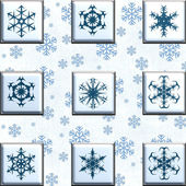 Collage snowflakes — Stock Photo