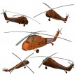 Stock Photo: Military helicopter