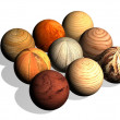 Wooden balls — Stock Photo