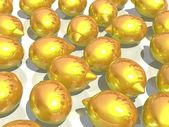 Golden lemons — Stock Photo