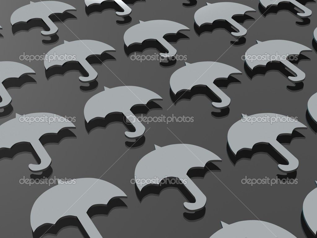 Abstraction from flat gray umbrella with a reflection on dark gray background  Stock Photo #1594284