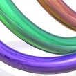 Multicolored three-dimensional strip — Stock Photo