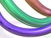 Multicolored three-dimensional strip — Stock Photo