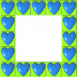 Frame of hearts — Stock Photo