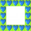 Royalty-Free Stock Photo: Frame of hearts