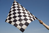 Checkered flag. — Stock Photo