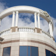 Balcony with white columns. — Stock Photo #1415351