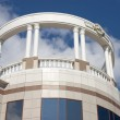 Balcony with white columns. — Stock Photo