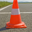 Cone on a road. — Stock Photo