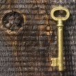 Old key of gold colour. — Stock Photo #1416006
