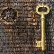 Old key of gold colour. — Stock Photo