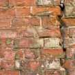 Old wall from a red brick. — Stock Photo