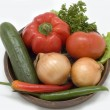 Stock Photo: Fresh vegetables.