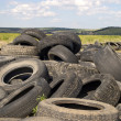 Tyre heap. - Stock Photo