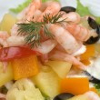 Prawn salad. — Stock Photo