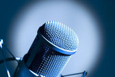 Microphone in studio. — Stock Photo