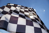 Checkered flag. — Foto Stock